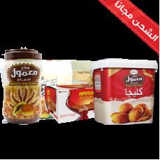 Maamoul Shoufan (Milk + Chocolate) + Maamol Um Salih large+ Klega Um Saleh + Weaver Hero Star