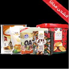 Maamoul Shoufan (milk + chocolate) + Tnk Kliga Umm Saleh + Halawa cow + Mamlou large mama